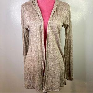 100% Linen Hooded Cardigan Sweater